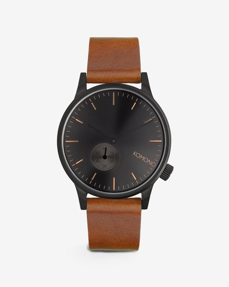 Komono Winston Subs Watch - Black/Cognac