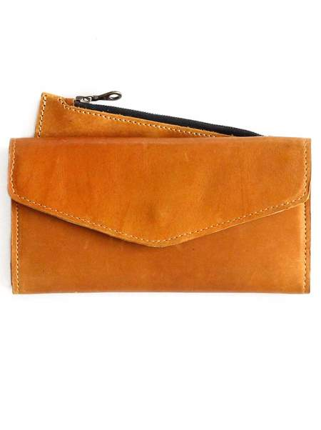 FashionABLE Hailu Leather Wallet - Cognac