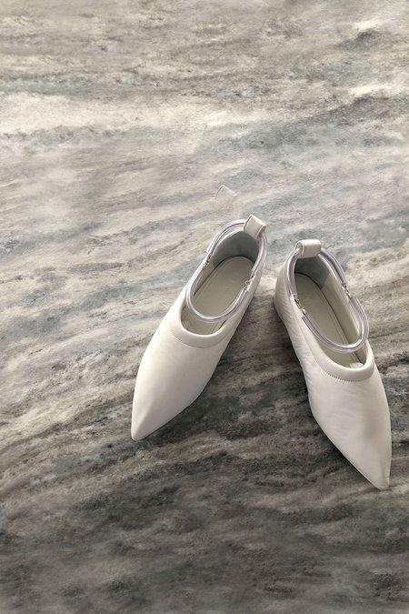 Jil Sander Embellished leather point-toe flats