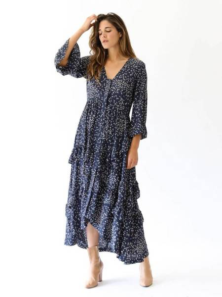 Ganni Barra Crepe Dress - Total Eclipse