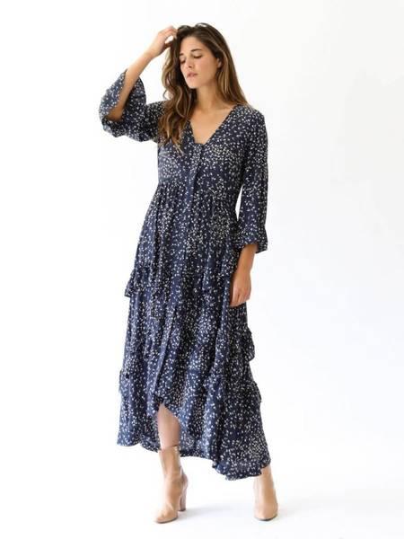 Ganni Barra Crepe Dress - Total Eclipse