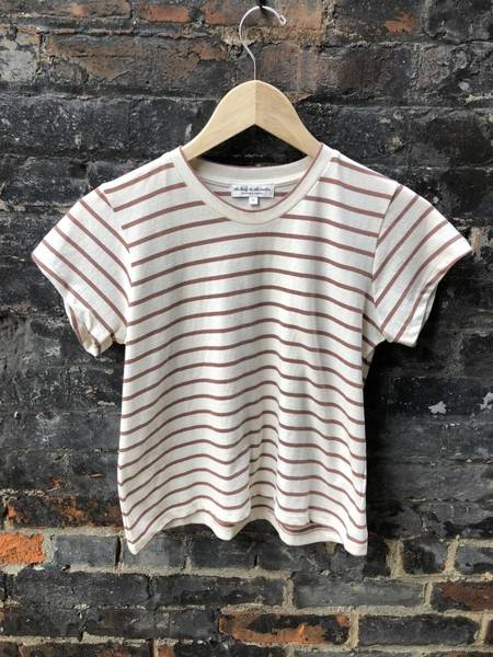 The Lady & The Sailor Shrunken BF Tee - Rose Stripe