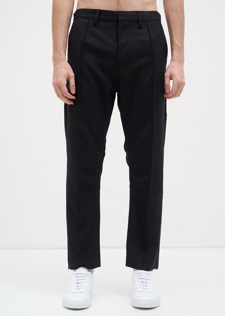 Siki Im  Wool Pintuck Peg Chino - Black