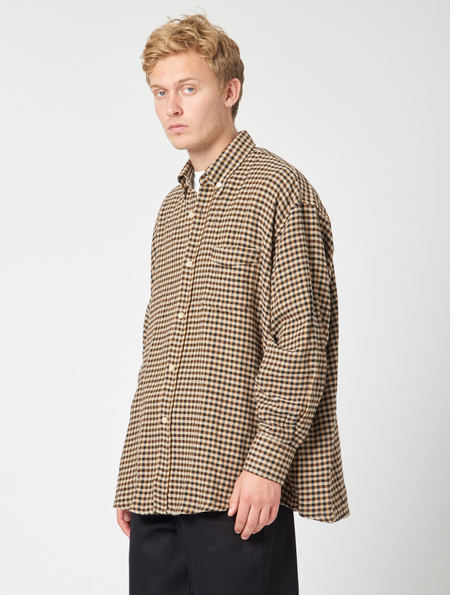 Our Legacy Borrowed BD Shirt - Brown Recycled Gingham