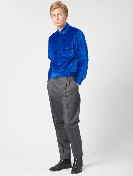 Other Rupert Velvet Trucker Jacket - Blue Velvet