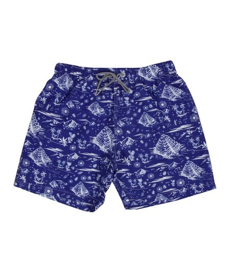 Boardies Tulum Mid Swim Shorts - Blue