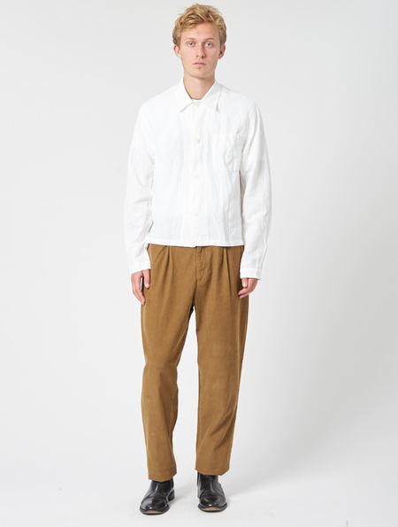 Our Legacy Shrunken Shirt - White Wrinkled Madras