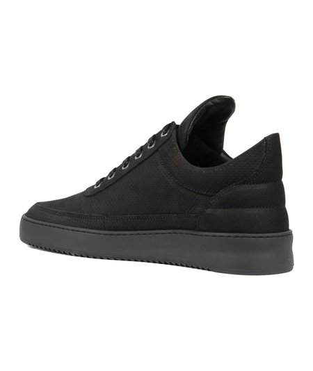 Filling Pieces Low Top Ripple Nubuck Perforated - Black