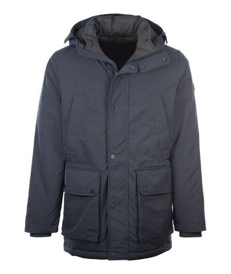 J Lindeberg Aron Mesh Stretch Hooded Coat - Navy