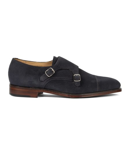 Loake Canon Suede Monk Strap - Navy