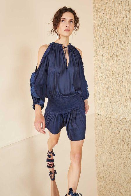 Ulla Johnson Isla shoulder cutaway dress