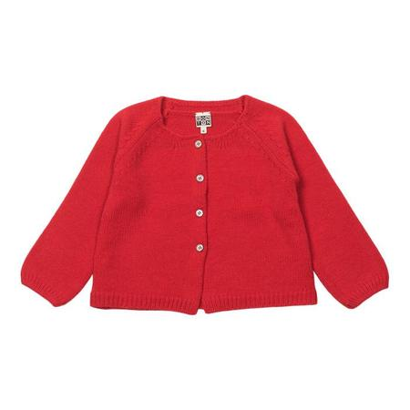 KIDS Bonton Child Cardigan - Coral Red