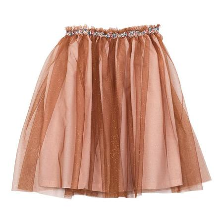 KIDS Bonton Child Irene Tulle Skirt - Chestnut Brown