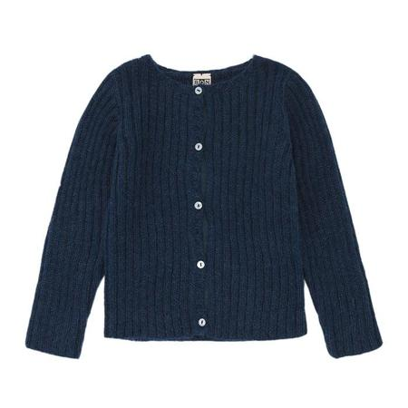 KIDS Bonton Child Ribbed Cardigan - Shark Blue
