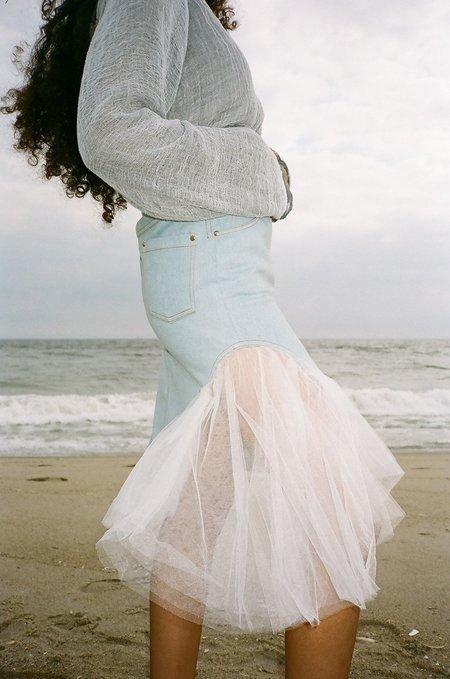 Calvin Luo Denim Skirt