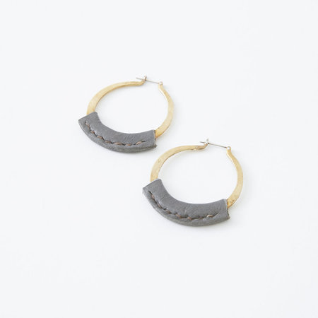 Crescioni Kiva Leather Earrings