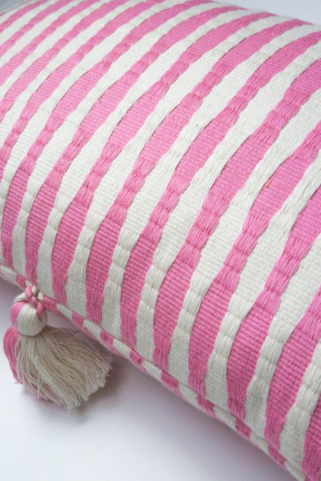 Archive New York Antigua Pillow - Bubblegum Pink Striped