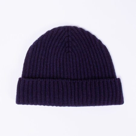 Unis Lambswool Knit Hat - Navy