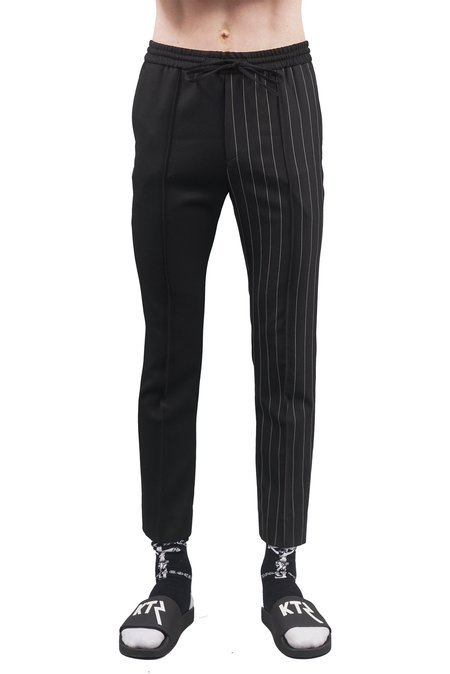 Juun.J Half Pleated Trousers - Pinstripe