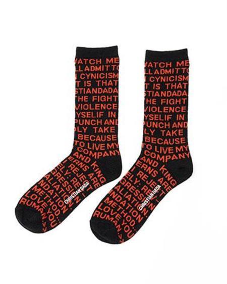 Christian Dada Twin Peaks Quote Socks - Black