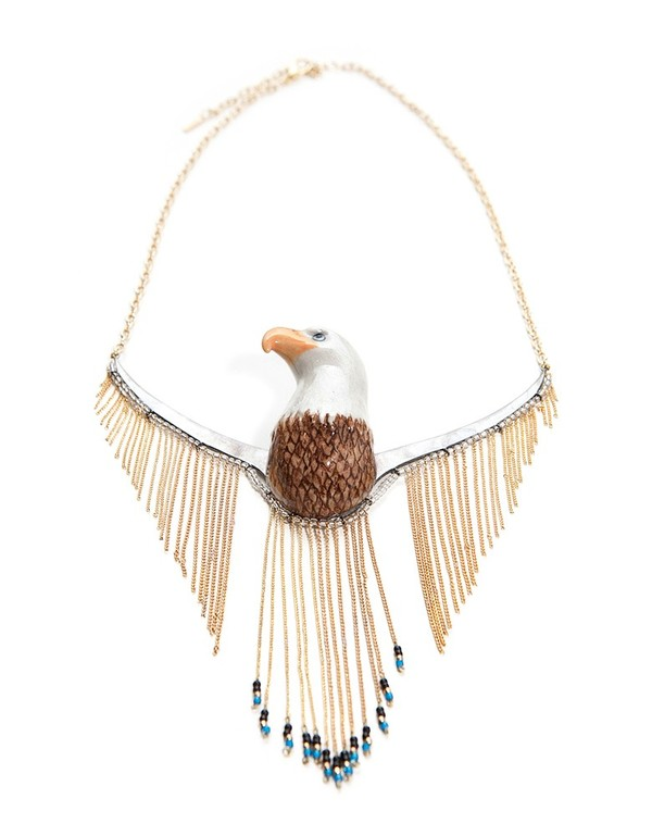 Nach Eagle Fringe Necklace