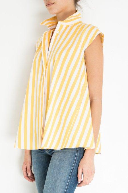 Aspesi & Co Cap Sleeve Stripe Shirt - Yellow