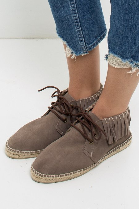 Manebi Cherokee High Top Espadrille - Brown