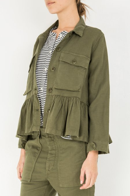 The Great. Flutter Army Jacket - Vintage Army