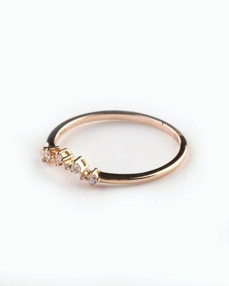 Seldom Seen Star Constellation Diamond Band Ring - Rose Gold