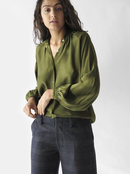 Erica Tanov Mona Blouse - Olive
