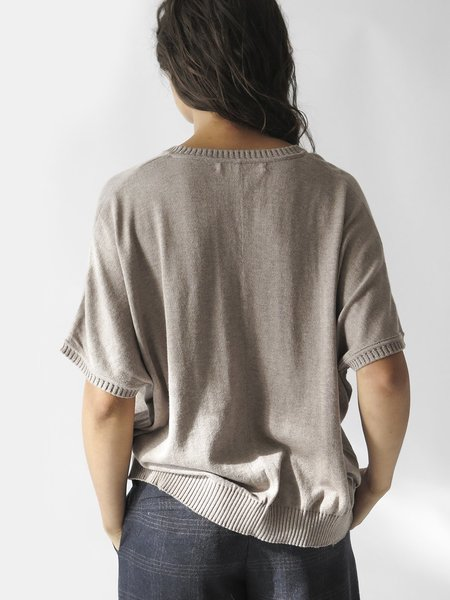 Erica Tanov V-neck Cocoon Sweater - Dove
