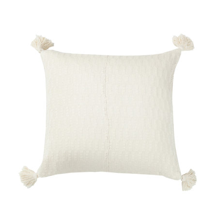 "Archive New York 20"" x 20"" Antigua PILLOW - Natural White"