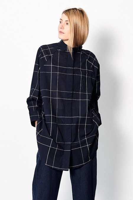 Kowtow Just Love Shirt - Navy Check