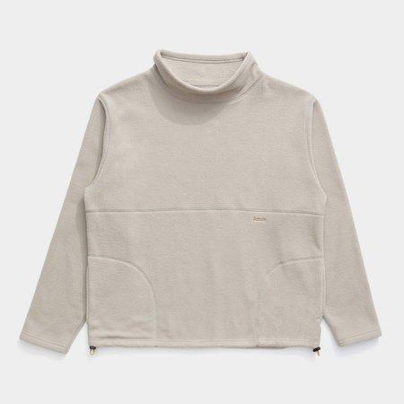 Unisex Adsum Flop Neck Fleece Sweat - Beige