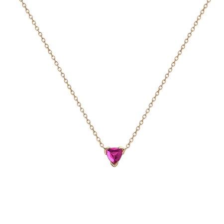 Shahla Karimi 14K Gold Birthstone Necklace - Tourmaline
