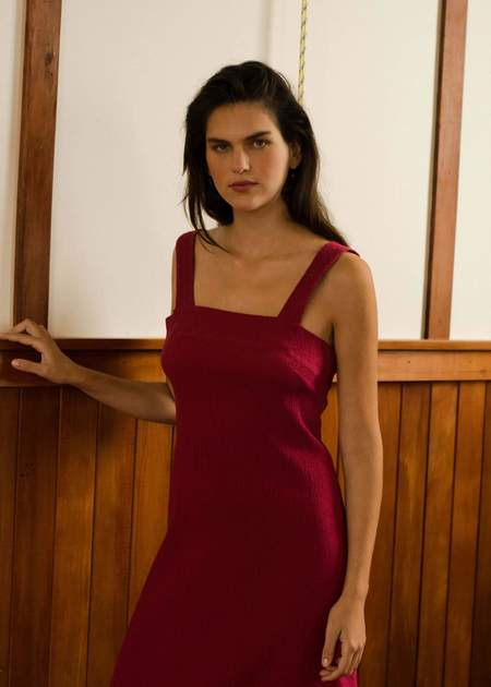 Penny Sage Cosmos Dress - Berry