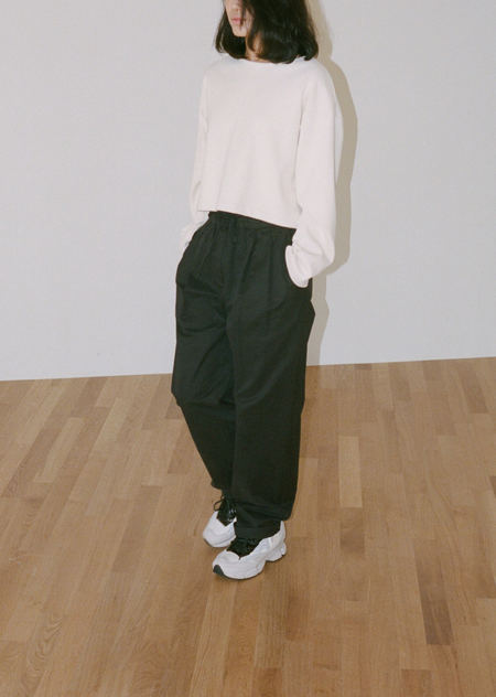AMOMENTO COTTON DRAWSTRING TROUSERS