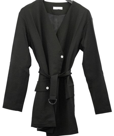 Aeron Belted Fitted Blazer - Black