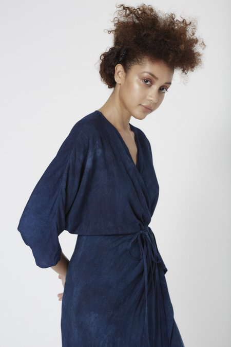 Osei-Duro Letsa Wrap Dress - Indigo