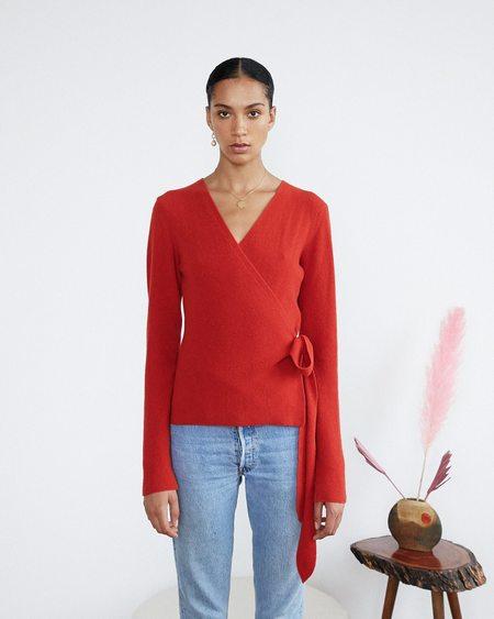 Nanushka Tilda Knit Top - Red