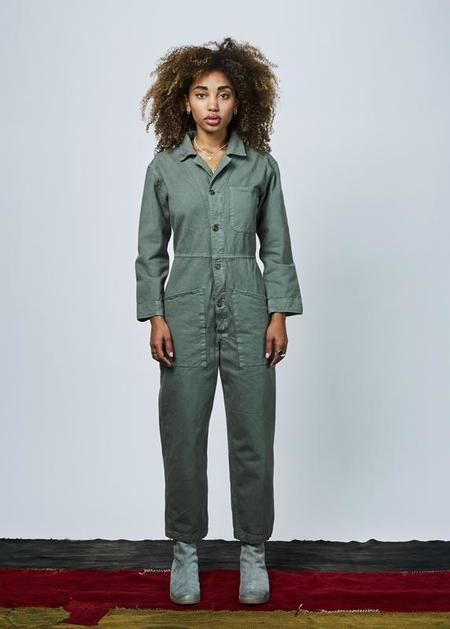 Bliss and Mischief Long Flight Suit - Olive Drab