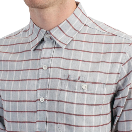 Bridge & Burn Foster Button-Down - Red Windowpane