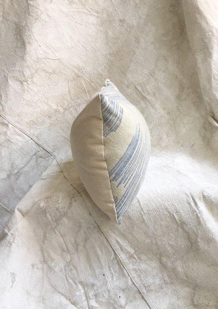 Ben Jones Blue Drawing Lumbar Pillow