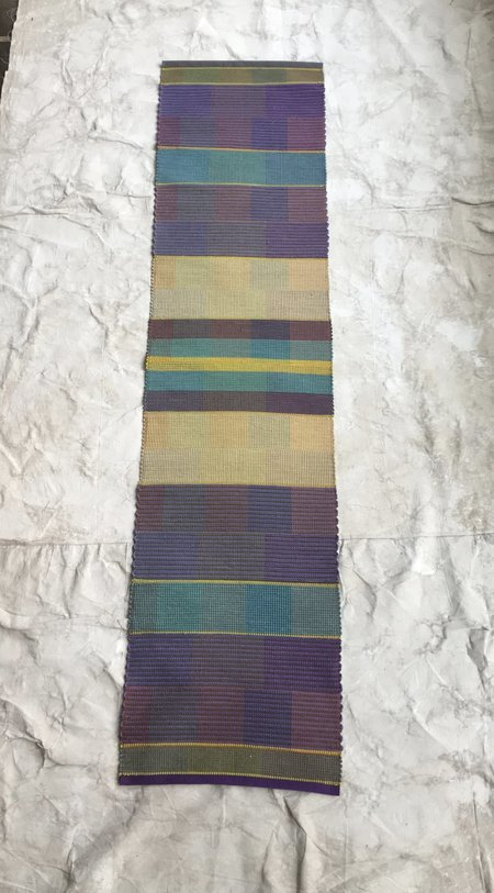 Claudia Mills 2 x 8 ' Rag Rug - Purple/stripes