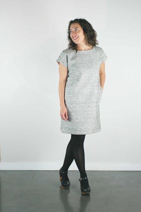 Atelier b. Straight Cut Dress - Grey Marl