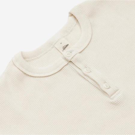 3Sixteen Long Sleeve Thermal Knit Henley - Natural