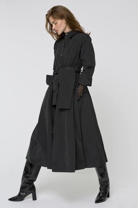 Dorothee Schumacher Taffeta Revolution Dress - Pure Black