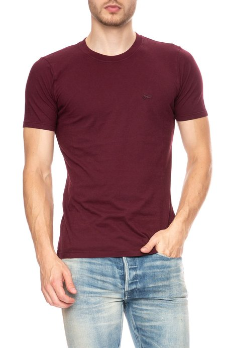 Denham Crew Neck Short Sleeve T-Shirt - Merlot