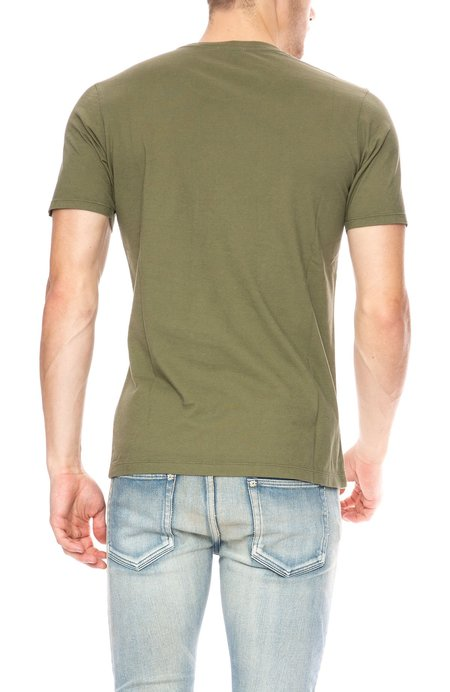 Denham Crew Neck T-Shirt - 1000 Year Green