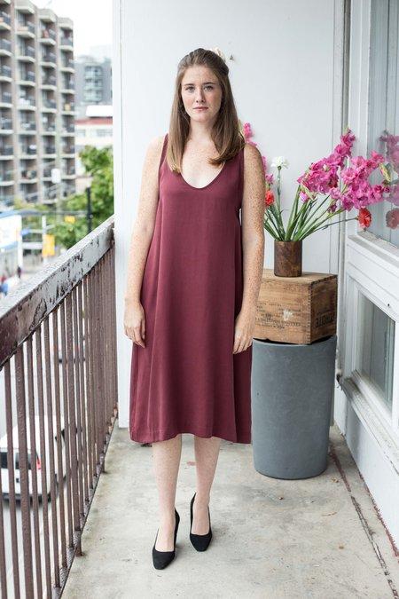 Amanda Moss Joni Dress - Merlot